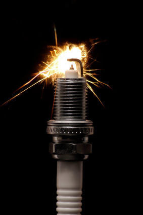 A firing spark plug